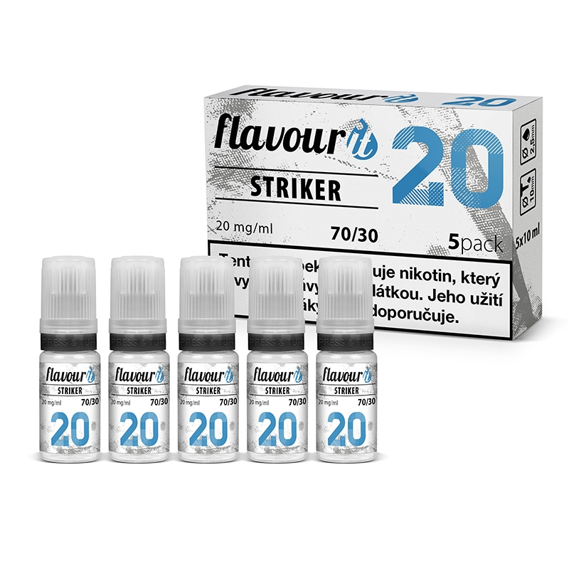 Booster Flavourit STRIKER 70/30 - 10ml / 20mg 5ks